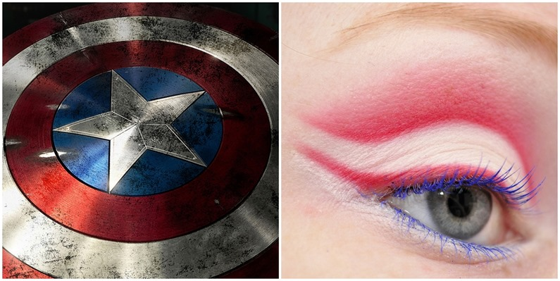 captain america inspired makeup look