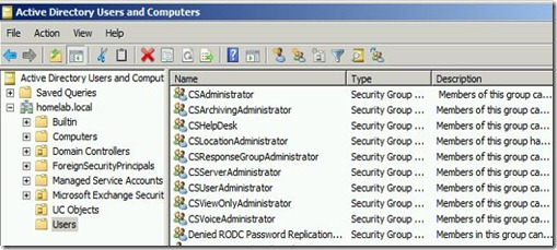 Lync Admin Role - list