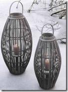 Oval Bamboo Lanterns