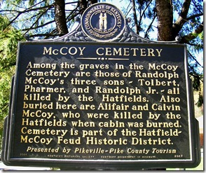McCoy Cemetery marker 2067 in McCarr, Pike County, Kentucky