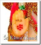 Shri Rama's lotus hand