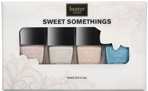 butter LONDON Sweet Somethings - One of my favorite glitter topcoats, Doily, is part of this set!