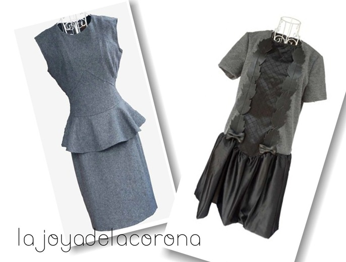collage vestidos grises1