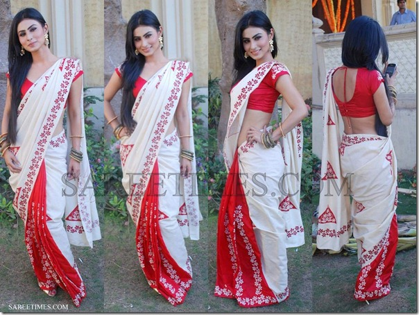 White_Red_Bollywood_Saree