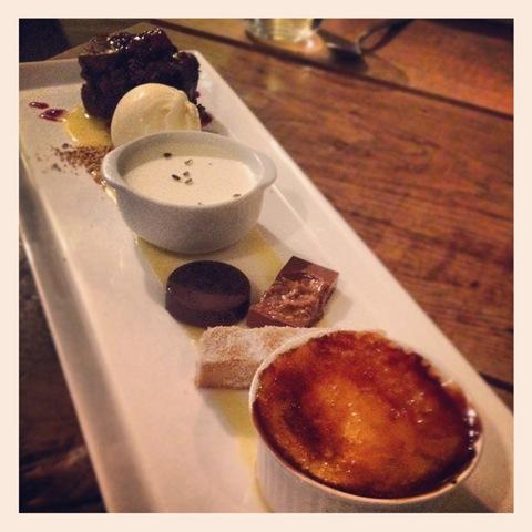 #140 - Wild Garlic dessert tasting platter