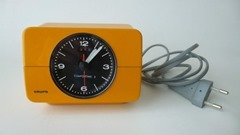 yellow Krups alarm clock front