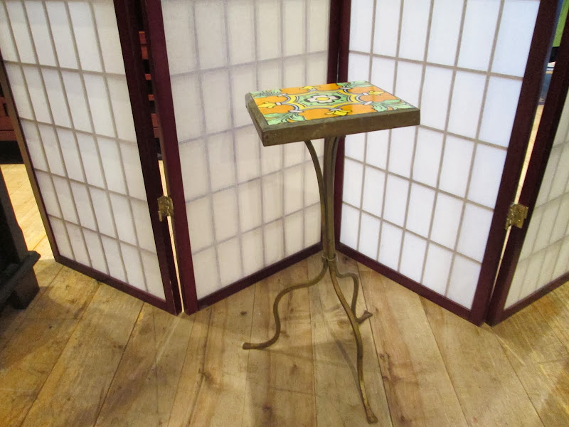 Blue/Green Tile Petite Sidetable