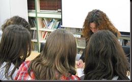 con alumnas