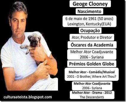 Ficha George Clooney é ateu