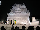 Japan's Hikone Castle - More information is at http://www.snowfes.com/english/place/oodori/index06-10.html
