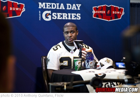 'Super Bowl Media Day Sun Life stadium - Reggie Bush - Saints' photo (c) 2010, Anthony Quintano - license: http://creativecommons.org/licenses/by/2.0/
