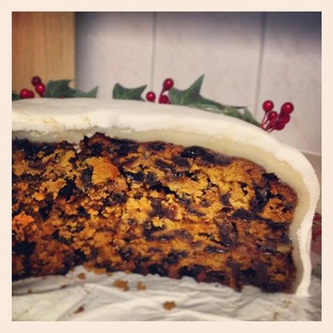 #365 - iced Christmas cake