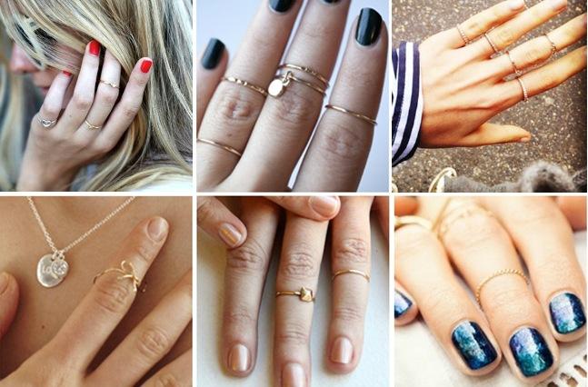 anel de falange meio dedo moda acessorio feminino