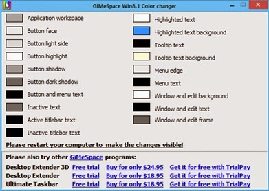 Windows 8 Advanced Color Changer