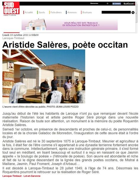 Aristide Salères Sud-Ouest 101111