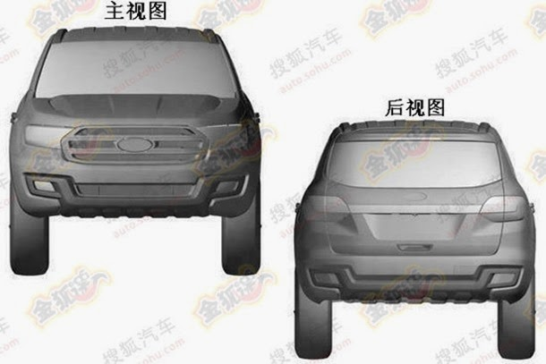 2016-Ford-Everest-patent-leaks-front-and-rear