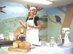 Cape Cod Columbus weekend 2012..Sat. Gluten Free bread making demo1