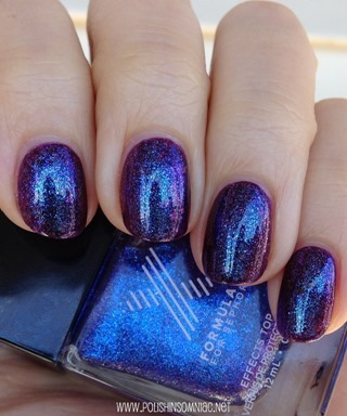 Formula X Kaleidoscope over China Glaze Howl You Doin' + OPI Merry Midnight + Matte Top Coat