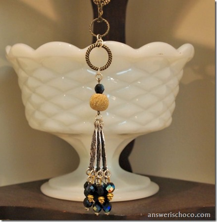 Gold and Silver Dangle