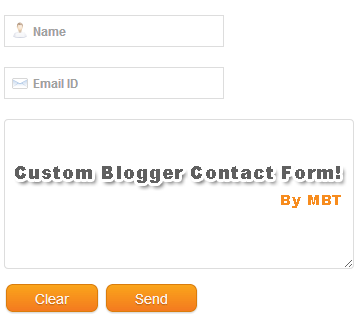 Blogger Contact Forms