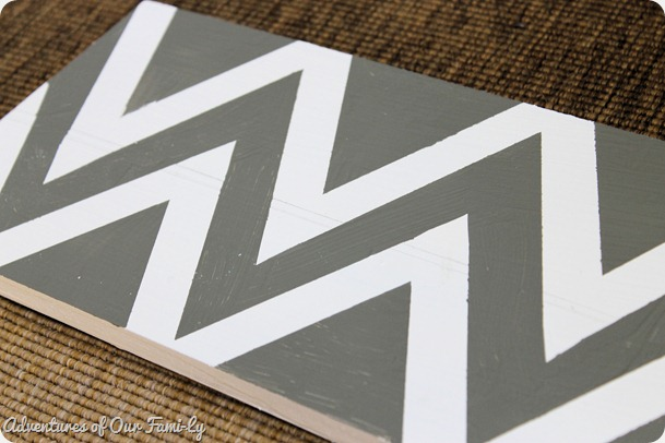 white and grey chevron seat