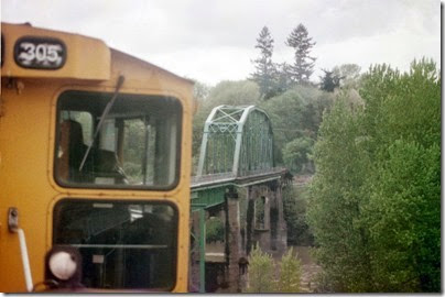 56226384-11 Weyerhaeuser Woods Railroad (WTCX) Cowlitz River Bridge at Kelso, Washington on May 17, 2005