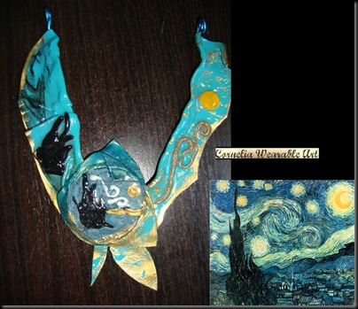 Van Gogh Starry Night Inspired Necklace II
