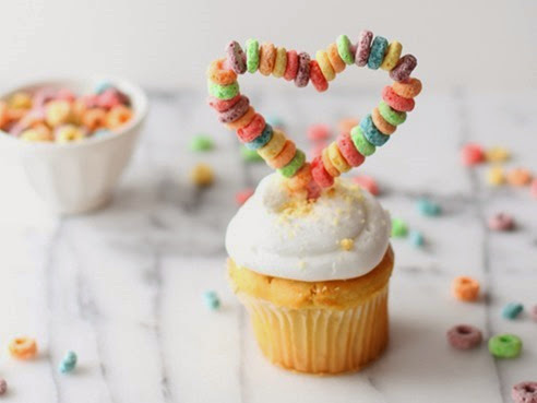 cereal cupcake topper