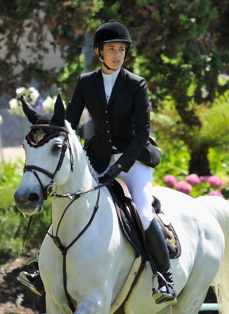 Charlotte Casiraghi competes during the Global Champion Tour Jumping 2010 day 3 on July 3, 2010 in Estoril, Portugal