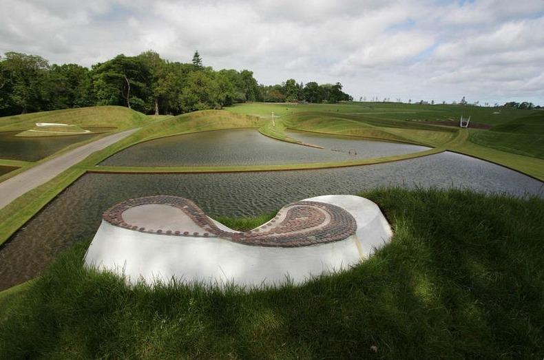 charles jencks s peculiar landscaping art amusing planet