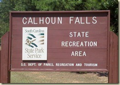 Main Sign Calhoun Falls