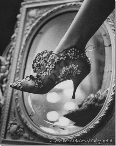 Evening boot designed by Roger Vivier for Maison Christian Dior Life Magazine September 1961