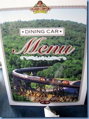 5427 Ontario - Sault Ste Marie - Agawa Canyon Train Tour - Dining Car Menu