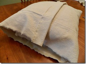 drop cloth ruffled pillow how to 3
