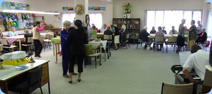 Members having morning tea before the concert commenced.