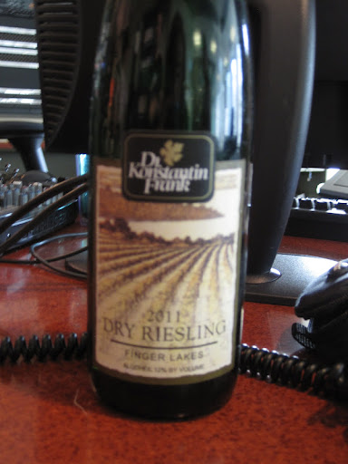 Dr. Konstantin Frank Riesling from Finger Lakes, New York.
