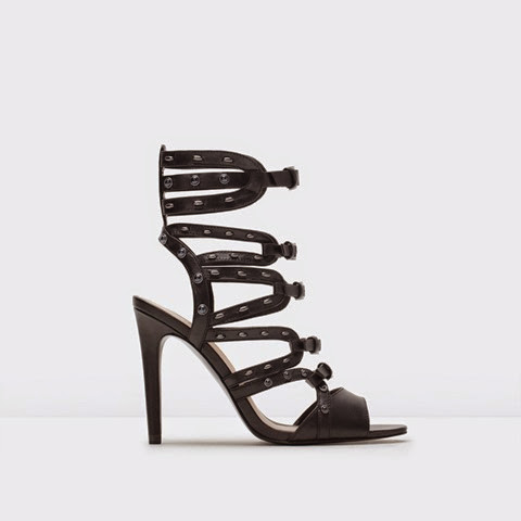 Zara-caged-black-studded-sandals £79.99