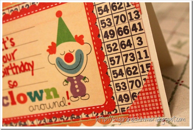 DIY Clown Around Card_close