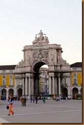 Lisbon, triumphal arch