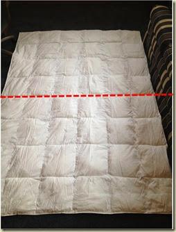 cut comforter in half