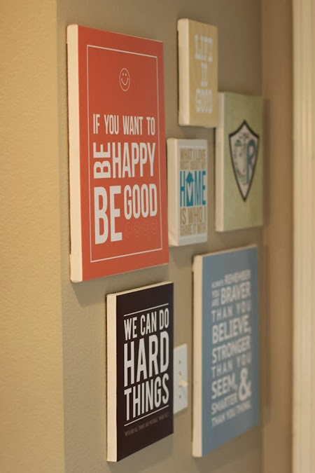 Turn your favorite family quotes into a wall art display!