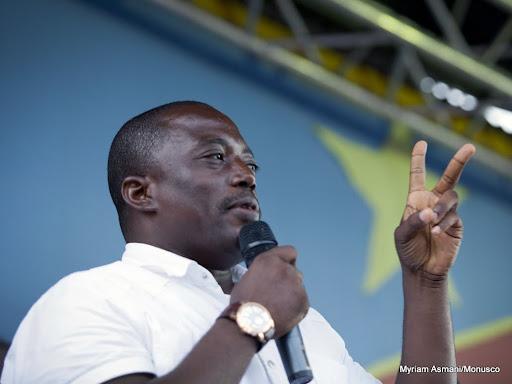 Le candidat indépendant à la présidentielle Joseph Kabila lors du meeting qu'il a tenu à Goma au Nord-Kivu, le 14 novembre 2011. © MONUSCO/Sylvain Liechti