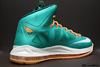 nike lebron 10 gr miami dolphins 4 03 Gallery: Nike LeBron X Miami Setting or Dolphins if you Like
