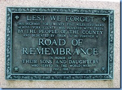 2209 Pennsylvania - Abbottstown, PA - Lincoln Hwy (Hwy 30) - 2nd of 2 WWl Road of Remembrance markers