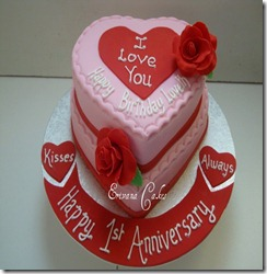 birthday and anniversary cake