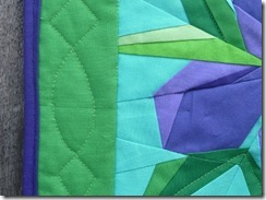 Iris quilting and binding