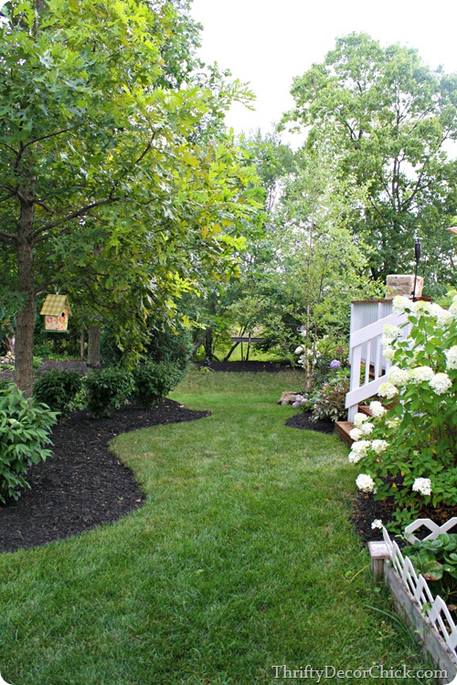 black mulch gardening beds