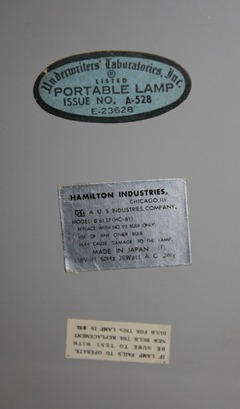 Hamilton Industries portable telescoping lamp, Model 6137 (HC-61)