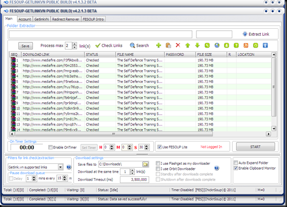 Download FESOUP v4.2.1.3 - Mediafire|Rapidshare Folder Extractor & Downloader, MF Download Assistant and Clipboard Filter plus more...