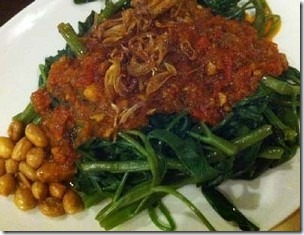 Aneka Sayuran Sambal Kangkung